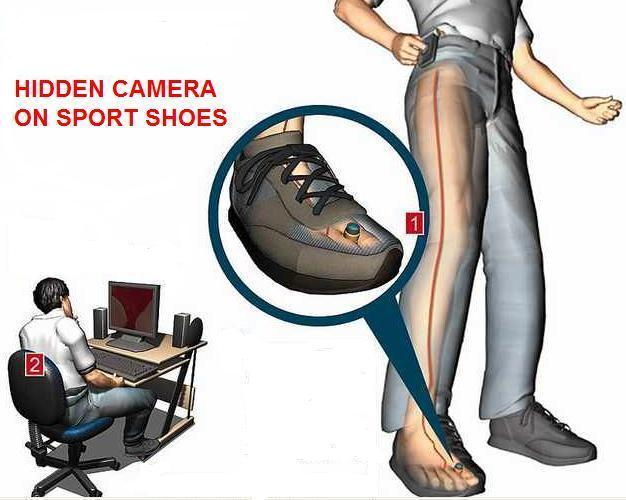 Spy Camera In Sports Shoes In Anantapur